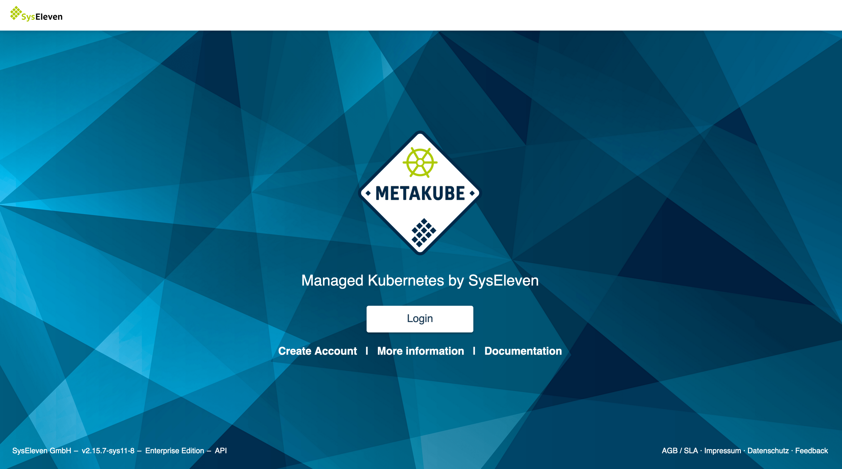 MetaKube Start Page