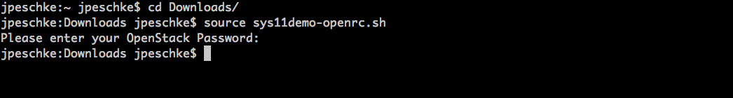 source openrc